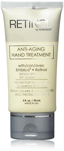 Retinol by Robanda SPF 15 Anti-Aging Hand Treatment, 3 Ounce (Best Anti Aging Hand Cream With Spf)