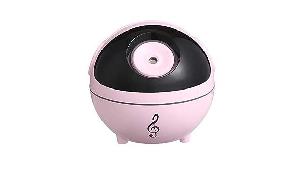 QAQWER Ultrasonidos Humidificador De Aire, La Música Creativa De Elf Humidificador Regalo Personalizado Silencio Escritorio Luz De La Noche De Carga USB Humidificador, Rosa: Amazon.es: Hogar