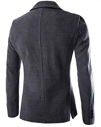Trincea Solido Abbigliamento Affari Il Grau Elegante Giacca Sottile Lungo Dunkel Cappotto Manica Uomo Giacche Per Di Colore Classico Cappotto Libero Tempo Da qAn40wF