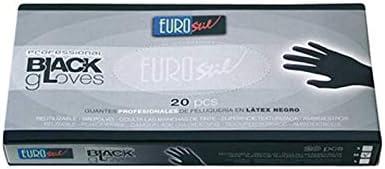 Eurostil Guantes de Latex Negro Mediano/M - 100 gr