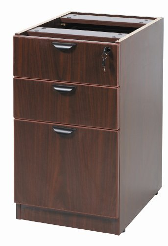 Boss Deluxe Pedestal 15-1/2 W by 22 D Full Box/Box/File, Mahogany