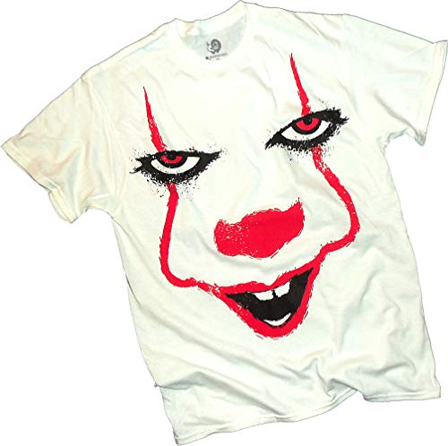 (New Line Cinema, Stephen King's IT Movie, Pennywise Big Face, Adult T-Shirt,)
