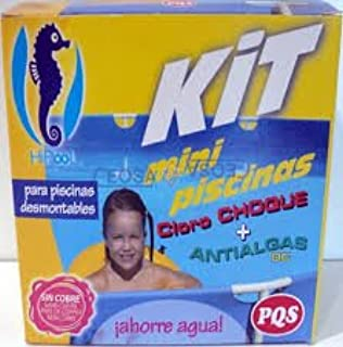 PQS-1617028 kit mini piscinas cloro+antialgas: Amazon.es: Juguetes y juegos
