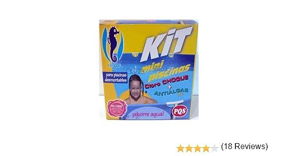 PQS-1617028 kit mini piscinas cloro+antialgas: Amazon.es: Juguetes y juegos