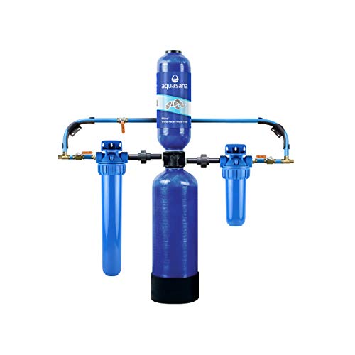 Aquasana Carbon & KDF Home Filtration EQ-1000 Whole House Water System-Filters Sediment & 97% Chlorine, 10 Yr, 1 Million - Filtration Eq