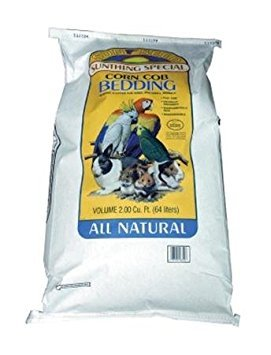 Sun Seed Company SSS18350 50-Pound 40-Pack Corn Cob Small Animal Bedding, 2 Cubic Feet