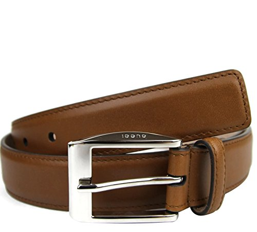 Gucci Men's Leather Belt Classic Square Buckle 336831 (10...
