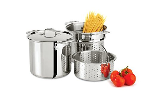 All-Clad E9078064 Stainless Steel Multicooker with Perforated Steel Insert and Steamer Basket, 8-Quart, Silver by All-Clad (Image #3)