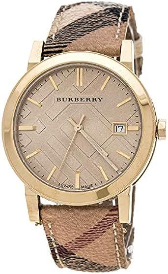 Burberry City Reloj para Unisex Analógico de Cuarzo con Brazalete de Piel de Vaca BU9026