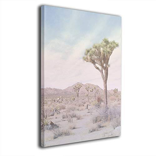 Rolandrace Joshua Tree Desert Cactus Landscape -Canvas Prints Wall Art Decor Abstract Wall Artworks Pictures for Living Room Bedroom Decoration-12x16 Inch