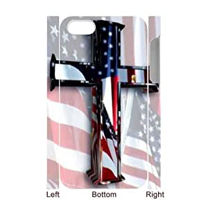 AKERCY America Flag And Cross Phone 3D Case For Iphone 4/4s [Pattern-3]