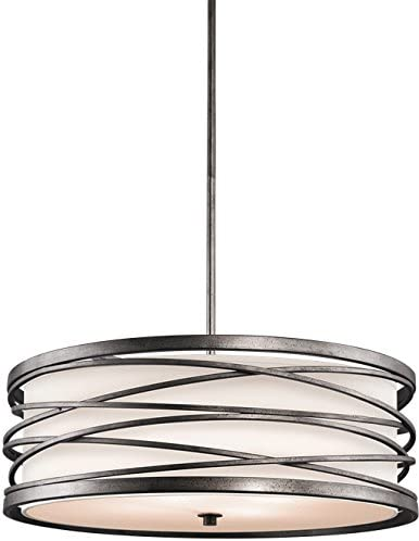 Kichler 42465WMZ Krasi Pendant, 4 Light Incandescent 400 Total Watts, Warm Bronze