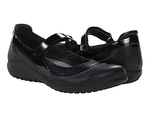 Naot Footwear Kirei, Madras Shiny Black Leather, 37 (US Women's 6) M