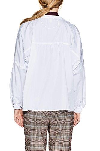 Bianco Camicia White ESPRIT 100 Donna Anx6qw6Z