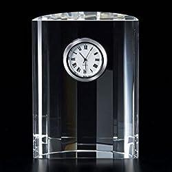 Badash Half Moon Clock, 4-1/2 by 3-1/2-Inch