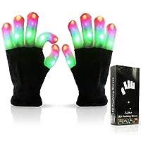 Guantes de luz LED para dedo de los niños de Luwint - Increíbles juguetes de novedad con destellos coloridos para niños con baterías adicionales