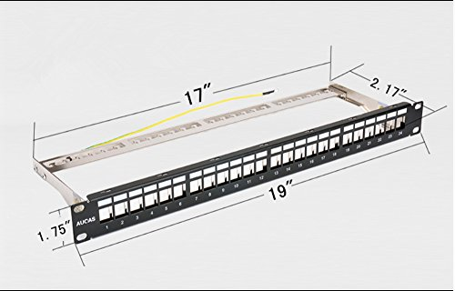 Cat6a 24 Ports Ftp Patch Panel Frame Modular Blank Patch