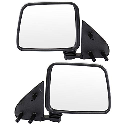 ECCPP Side Mirrors, A Pair of Rear View Mirrors Manual Folding Chrome Door Mirror Replacement fit for 1986-1997 Nissan Pickup 1986-1994 Nissan D21 1987-1995 Nissan Pathfinder