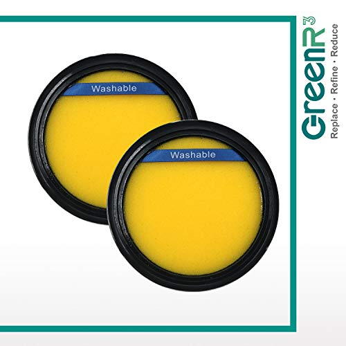 GreenR3 2-Pack Replacement Air Foam Filters For Eureka DCF25