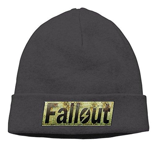 Jirushi Unisex Fallout Beanie Cap Hat Ski Hat Caps Hip-hop Hat Black