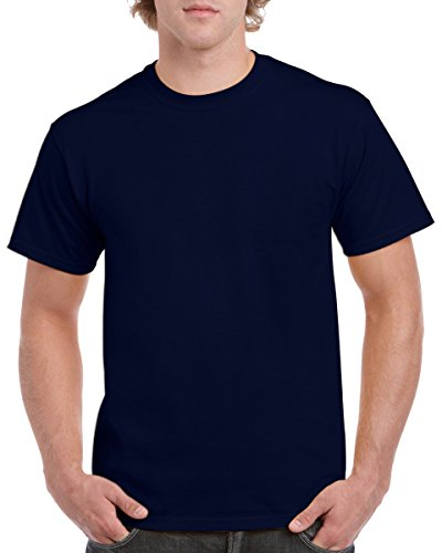 Gildan 5.3 Ounce Heavy Cotton Short Sleeve T-Shirt - Navy 5000 Small (Best Selling T Shirts)