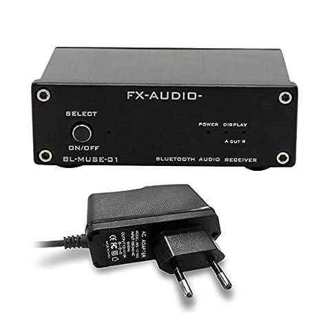La Salida coaxial de Fibra óptica del Receptor de Audio Bluetooth de Alta fidelidad FX-Audio se Puede conectar a un Amplificador de Potencia Digital Puro: ...