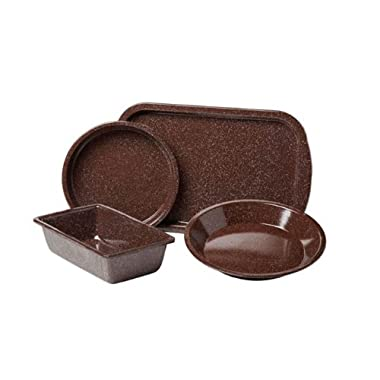 Granite Ware F0631-2 4-Piece Better Browning Bakeware Set, Brown