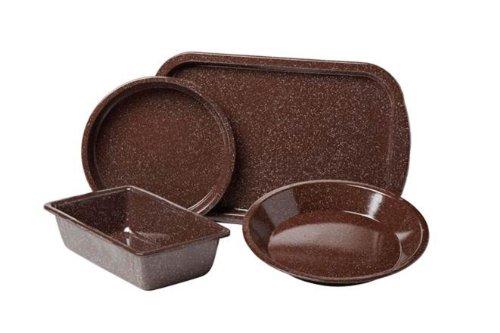 Granite Ware Better Browning Bakeware Set, 4-Piece, Brown by Granite Ware