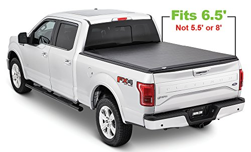 Tonno Pro HF-365 Black Hard Fold Truck Bed Tonneau Cover 2015-2018 Ford F-150 | Fits 6.5' Bed ()