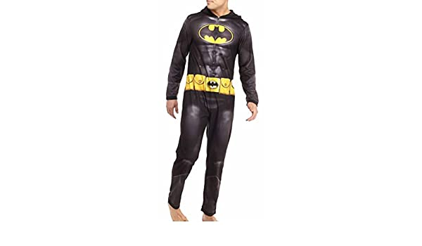 f6499947462 Amazon.com  Briefly Stated Men s Batman Dark Knight Hooded Jumpsuit Pajamas  (Small)  Clothing