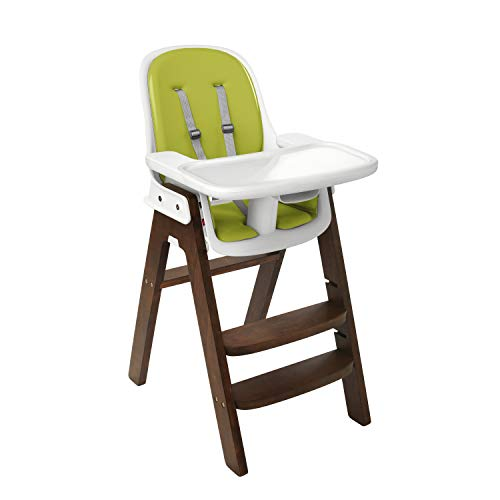 Chair Walnut High (OXO Tot OXO Tot Sprout Chair with Tray Cover, Green and Walnut)