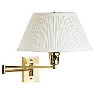Wall Extension Light : Wall Mounted Swing Arm Lamp (Brass) (13