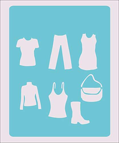 OutletBestSelling 再利用可能な丈夫なドレス ステンシルクラフト ペイントカラー ウォールデコレーション キッズ B07HP75Z68