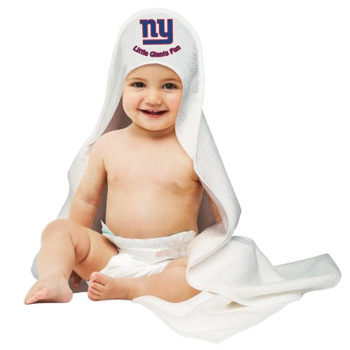 NFL New York Giants White Hooded Baby Towel