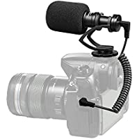 Comica CVM-VM10ⅡVideo Microphone - Mini Cardioid Directional Condenser Shotgun Microphone with Professional Shock-Mount for Canon 5DⅢ / Sony A7RⅡ A7SⅡ/ Panosonic GH4 GH5 DJI OSMO