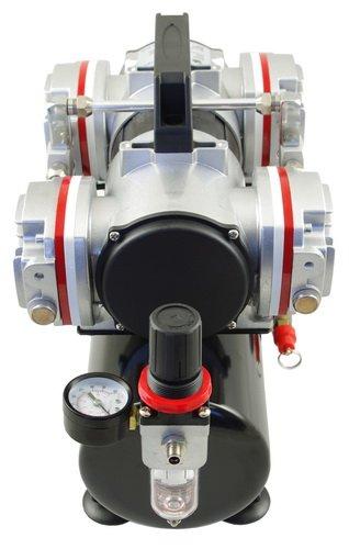 Aerógrafo compresor AS LED-48 A - Cuatro Cilindro pistón compresor, sin aceite: Amazon.es: Hogar