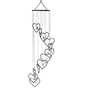 Red Carpet Studio 32-Inch Red Heart Spiral Tunes Chime with Heart Crystals
