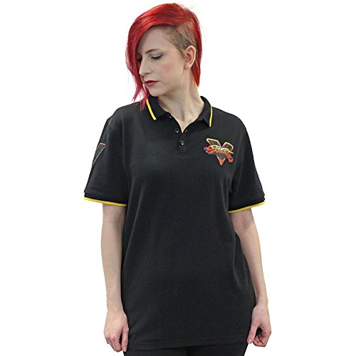 Street Fighter Official Black Polo Shirt