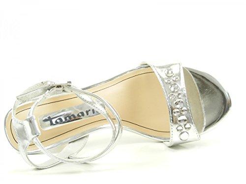 Tamaris Damen Sandaletten Silber