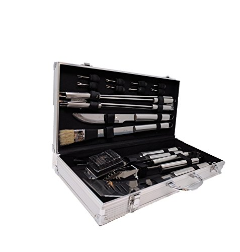 BBQ Grill Tools Set with 18 Barbecue Accessories - Stainless