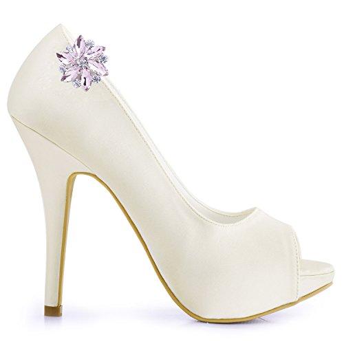 ElegantPark AJ zapatos de boda de vestir Accesorios Cristales Desmontable zapato Clips 2 Pcs Rosa