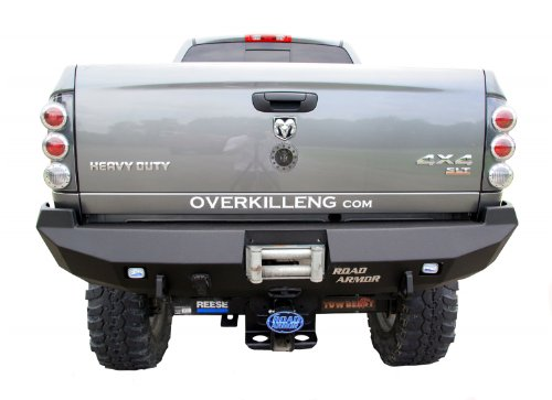Road Armor - Road Armor 44100B Satin Black Rear Stealth Bumper for Dodge RAM HD/1500