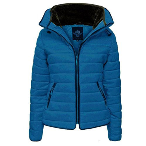 L Padded XL Royal Size Women's M amp; Jacket Blue Fashion Quilted Glamorous S Ladie's Winter nvIqw7