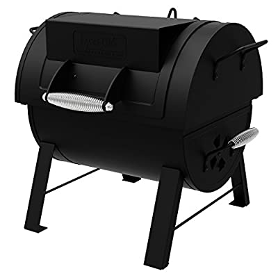 Dyna-Glo DGSS287CB-D Portable Tabletop Charcoal Grill & Side Firebox by Dyna-Glo