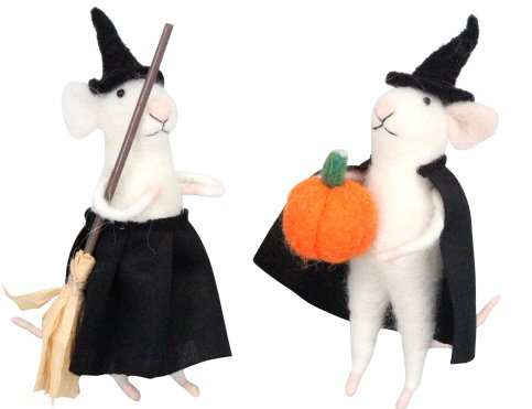 Gisela Graham Wool Mix Halloween Mice]()