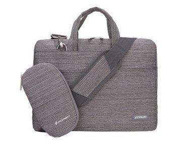 15pulgadas portátil bolsa de transporte de hombro funda blanda para Chromebook/MacBook/Ultrabook/Lap rosa rosa gris claro