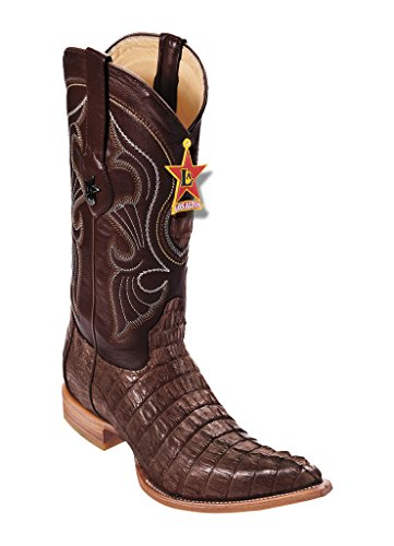 Genuine Leather Tail Western 3X Boots Brown Altos Toe Los Men's Caiman nxpHICqX