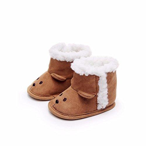 879b5ed9f95923 cinnamou Kleinkind Baby Mädchen Warm Halten Schneestiefel Weiche Sohlen  Krippe Schuhe Kleinkind-Stiefel - Anti ...