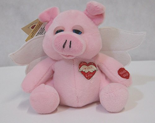PBC Chantilly Lane 8 Inch Bright Spots Pink Pig Sings On the Wings of Love