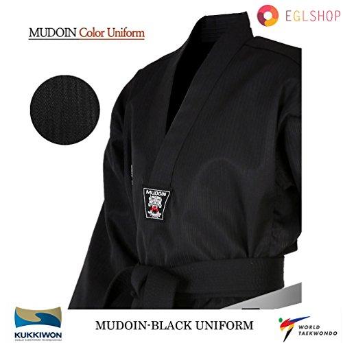Mudoin Black Color Taekwondo Uniform WTF Poom TKD Martial Arts MMA Akido WKF – DiZiSports Store